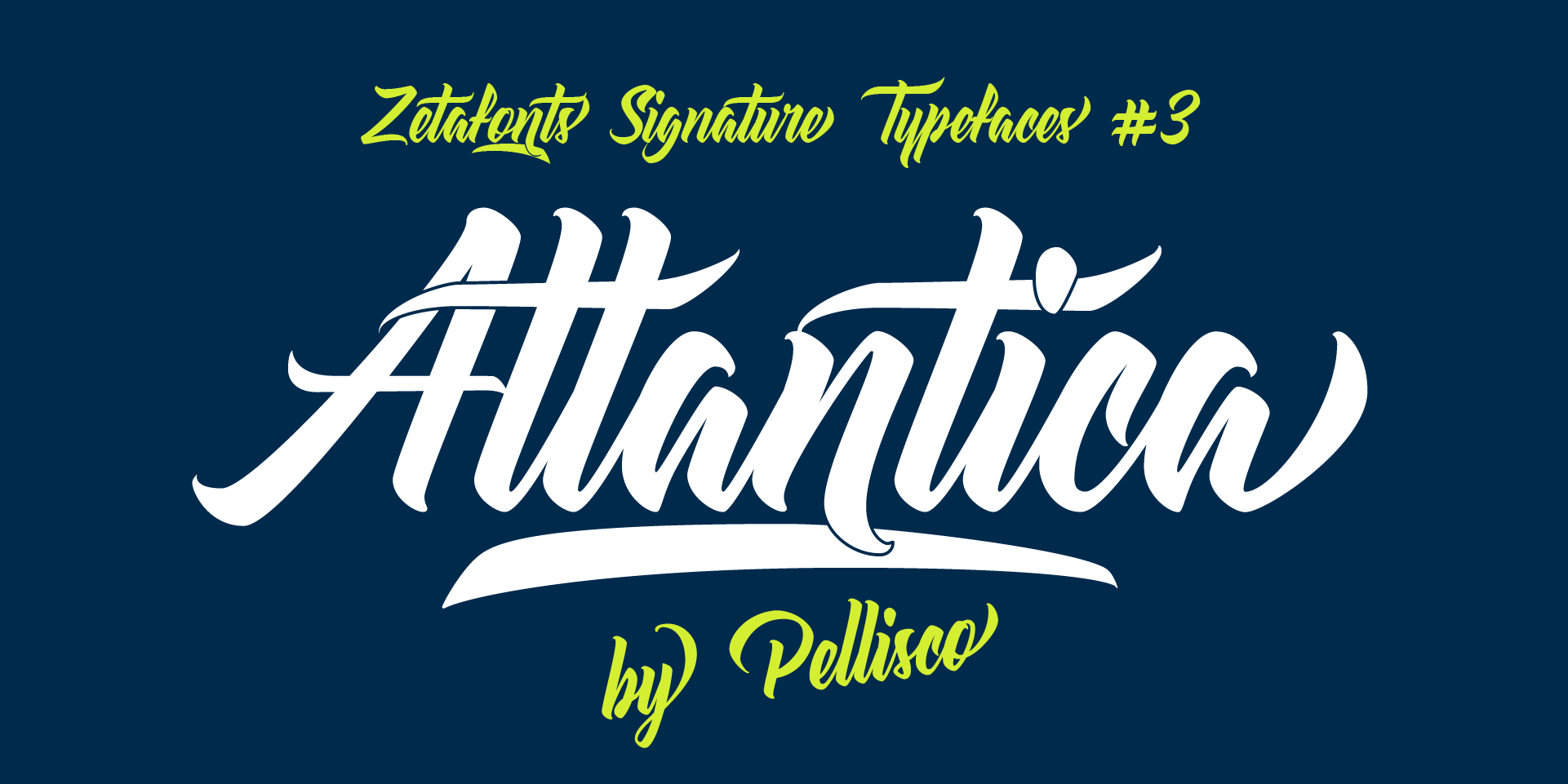 Atlantica Typeface by Zetafonts