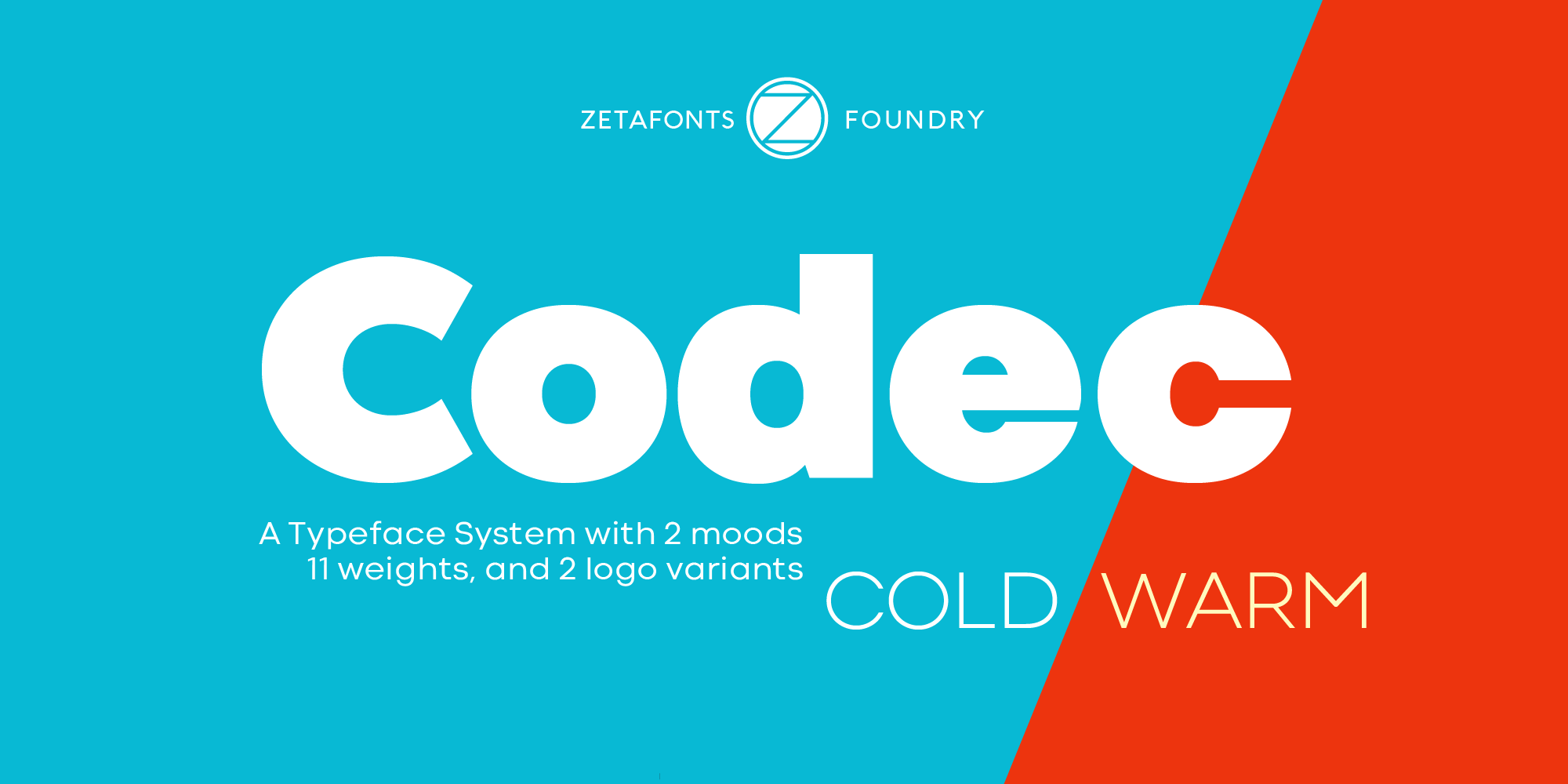 Codec Warm Cold Typeface By Zetafonts