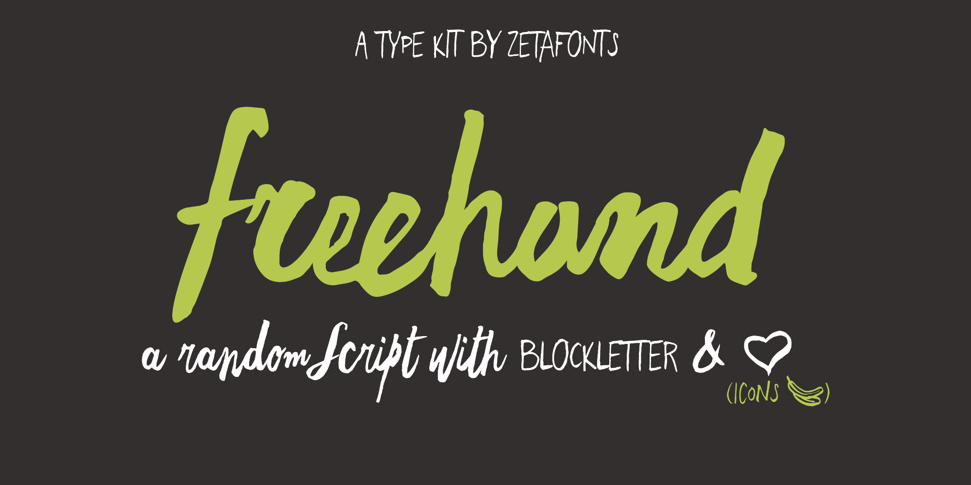 Freehand Typeface By Zetafonts