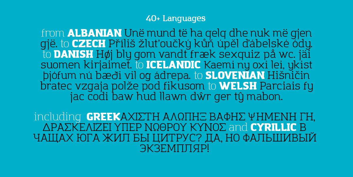Amazing Grotesk  World language preview
