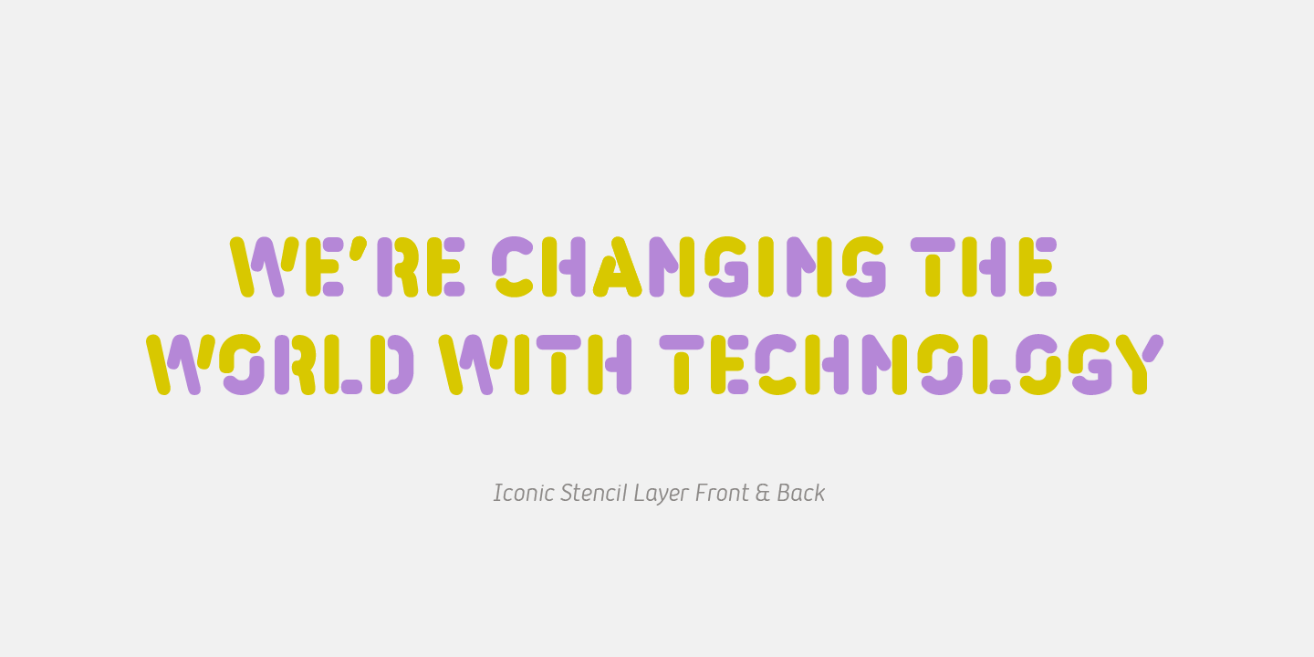 Iconic color font