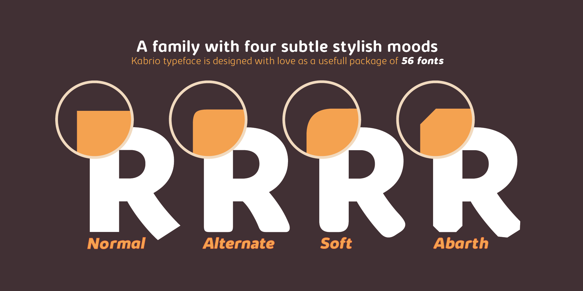 A family with four subtle stylish moods