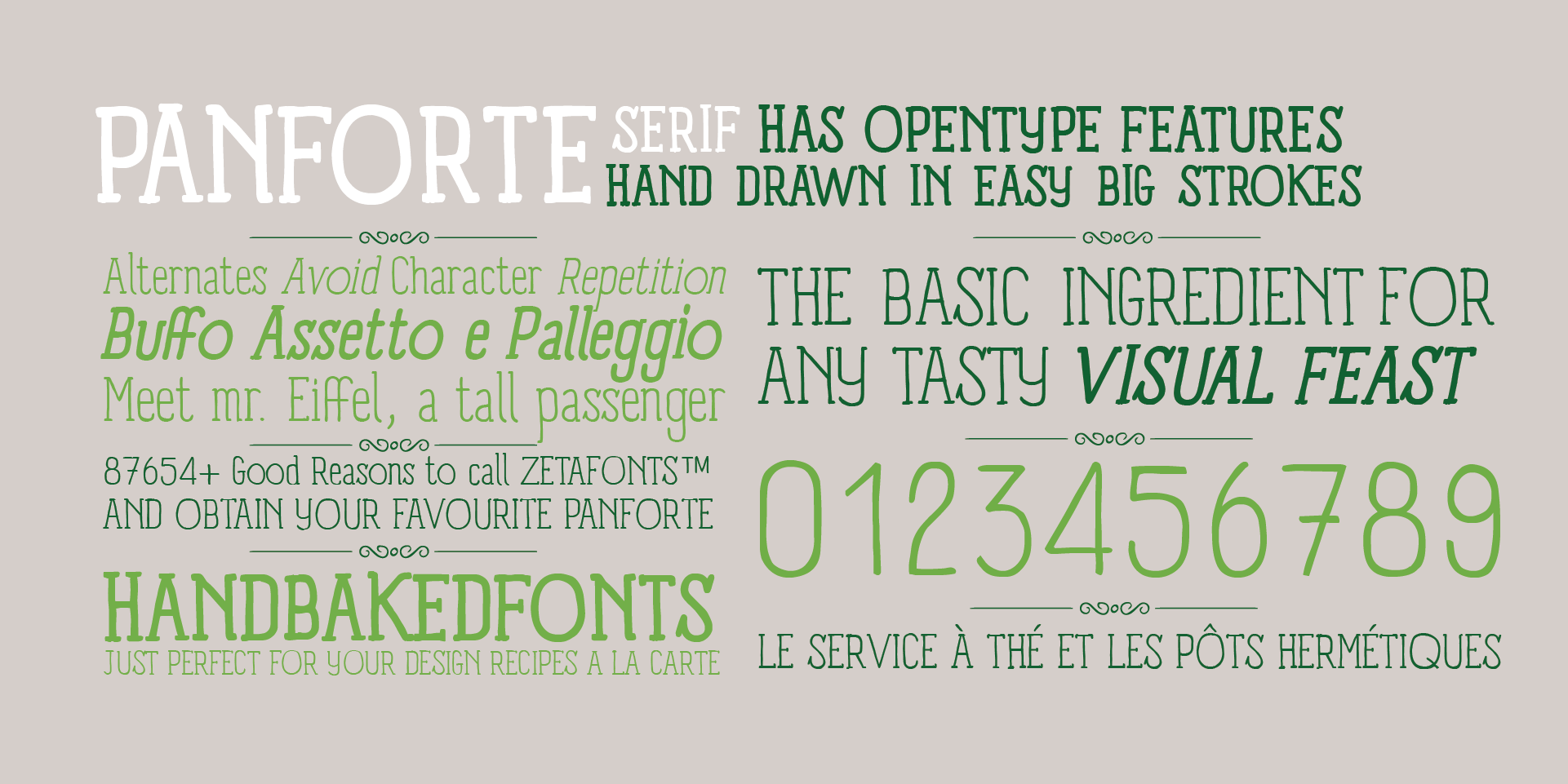 Panforte Serif open type