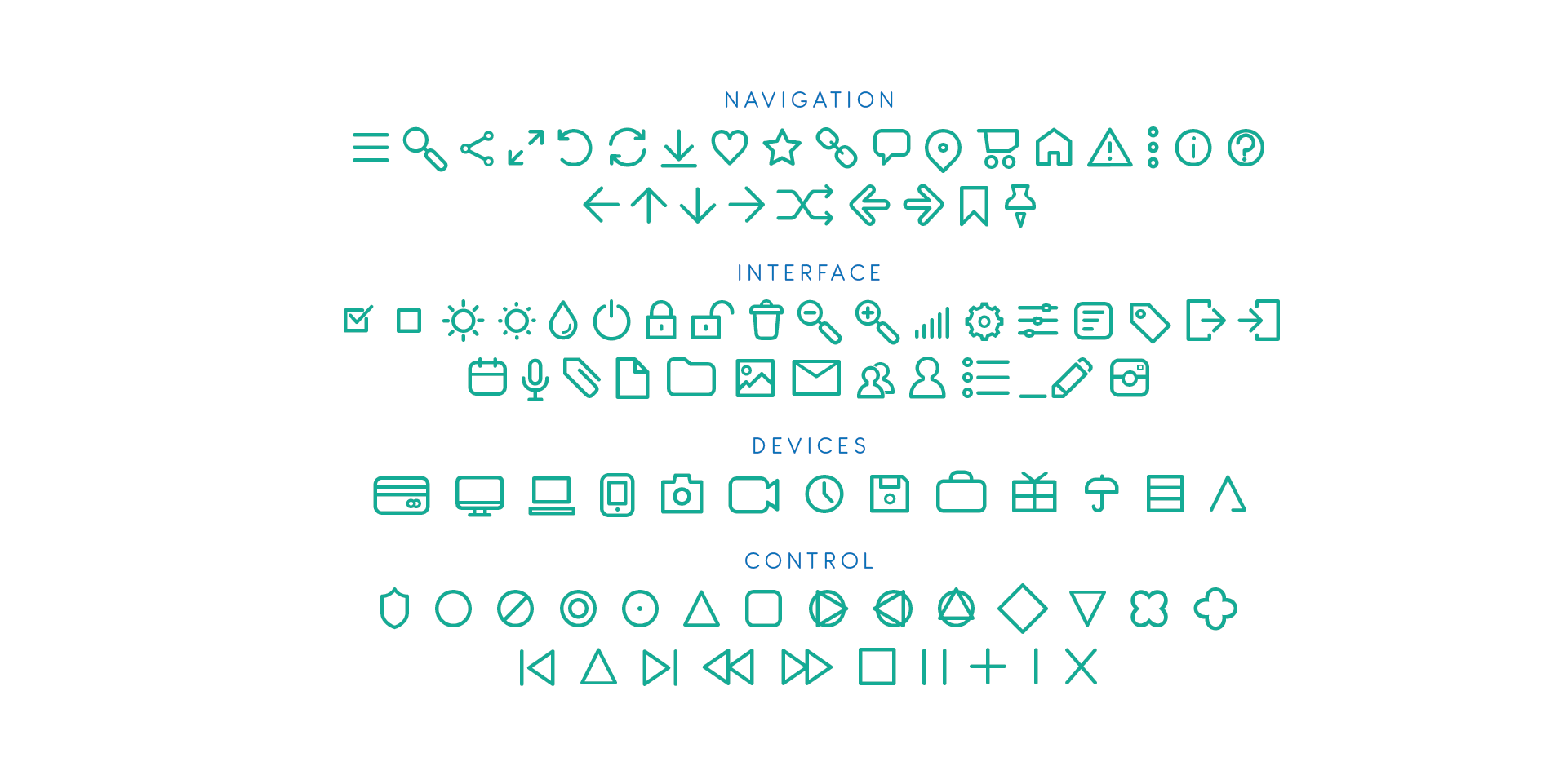 antipasto icons set