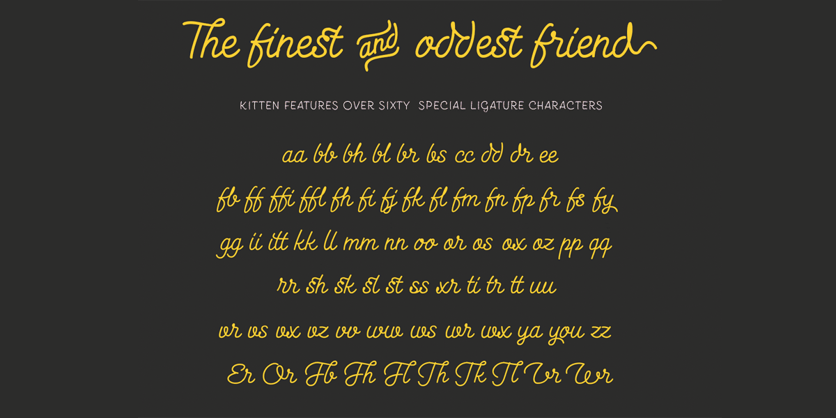 Kitten ligatures
