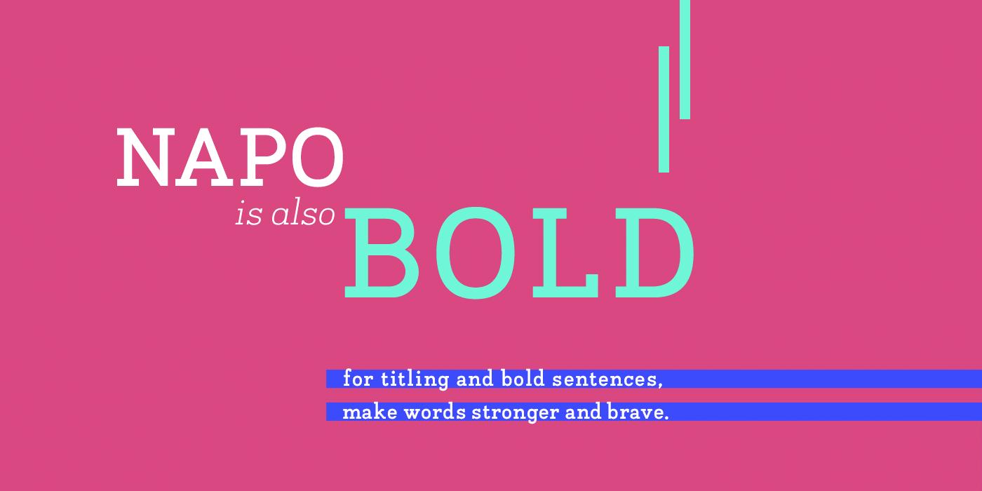 Napo Typeface By Zetafonts